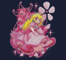 Flowery Princess Peach Baby Tee