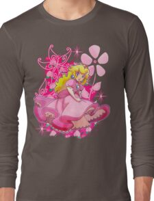 Flowery Princess Peach Long Sleeve T-Shirt