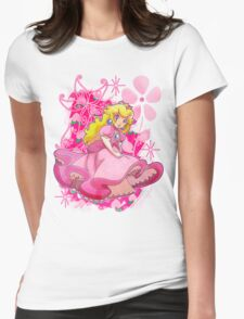 Flowery Princess Peach Womens Fitted T-Shirt