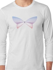 Rose Quartz & Serenity Sunset Butterfly Long Sleeve T-Shirt