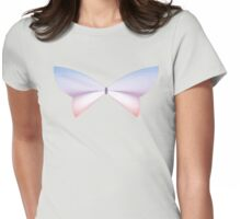 Rose Quartz & Serenity Sunset Butterfly Womens Fitted T-Shirt