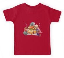 Bowser Mario Mallow Peach and Geno Kids Tee