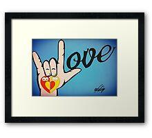 Love Sign Language Art Framed Print