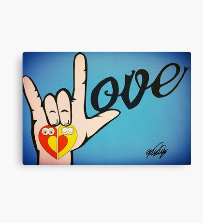 Love Sign Language Art Canvas Print