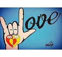 Love Sign Language Art Photographic Print