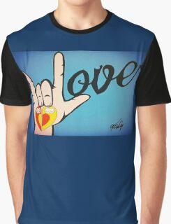 Love Sign Language Art Graphic T-Shirt