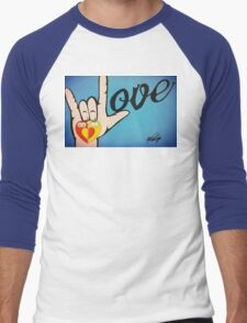 Love Sign Language Art Men's Baseball ¾ T-Shirt