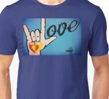 Love Sign Language Art Unisex T-Shirt