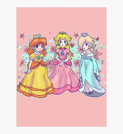 Princess Peach, Daisy and Rosalina Photographic Print