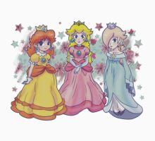 Princess Peach, Daisy and Rosalina One Piece - Long Sleeve