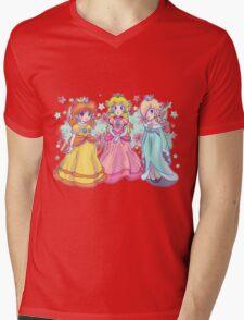 Princess Peach, Daisy and Rosalina Mens V-Neck T-Shirt