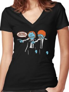 Mr. Meeseeks - Pulp Fiction parody Women's Fitted V-Neck T-Shirt