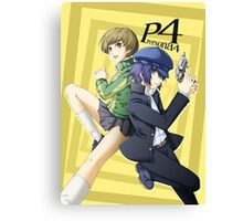 chie and naoto, persona 4 Canvas Print