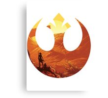 Star Wars VII - BB8 & Rey Canvas Print