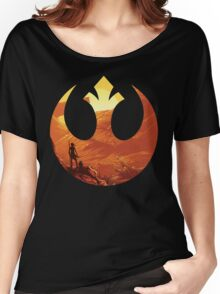 Star Wars VII - BB8 & Rey Women's Relaxed Fit T-Shirt