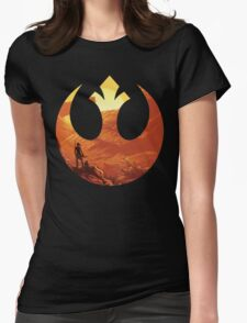 Star Wars VII - BB8 & Rey Womens Fitted T-Shirt