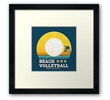 Beach volleyball  Framed Print