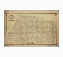 176 Map of Mecklenburg County Virginia Kids Tee