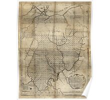 American Revolutionary War Era Maps 1750-1786 089 A map of the Federal Territory from the western boundary of Pennsylvania to the Scioto River Poster