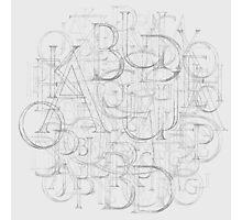 Antique Alphabet in Round Photographic Print