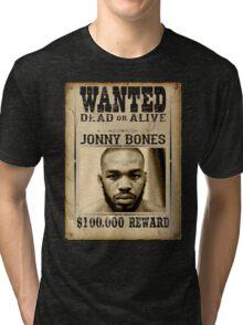 Jon Jones Wanted Poster Tri-blend T-Shirt