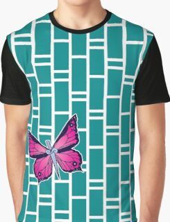 Ocean Butterflies Part 1 - Teal Graphic T-Shirt