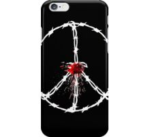barbed wired peace with blood iPhone Case/Skin