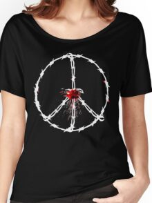 barbed wired peace with blood Women's Relaxed Fit T-Shirt