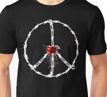 barbed wired peace with blood Unisex T-Shirt
