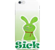 Sick green monster iPhone Case/Skin