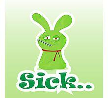 Sick green monster Photographic Print