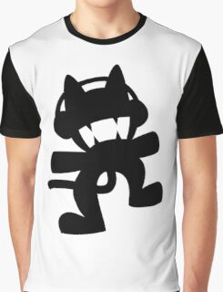 Monstercat | Black Logo | White Background | High Quality Graphic T-Shirt