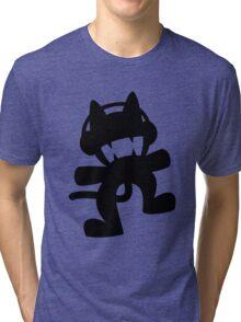 Monstercat | Black Logo | White Background | High Quality Tri-blend T-Shirt
