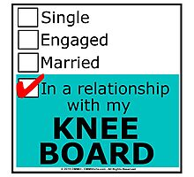 In A Relationship With My Knee Board Photographic Print