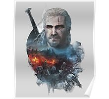the witcher 3 wild hunt geralt of rivia #1 Poster