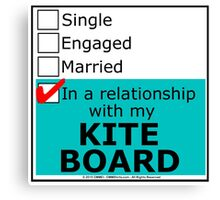 In A Relationship With My Kite Board Canvas Print