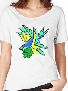 Tattoo Inpsired St. Patrick's Day Swallow Women's Relaxed Fit T-Shirt