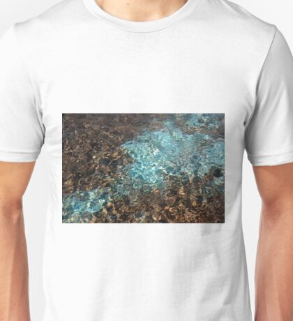 Teal and brown water color photo Unisex T-Shirt