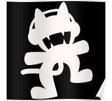 Monstercat | White Logo | Black Background | High Quality Poster