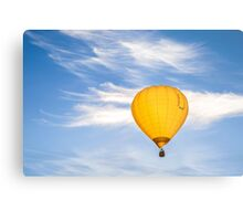 Yellow Balloon Sunrise Flight - Martinborough, NZ Metal Print