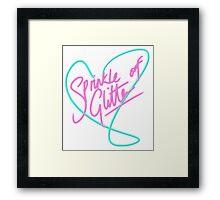 Sprinkle of Glitter - Heart Logo Framed Print