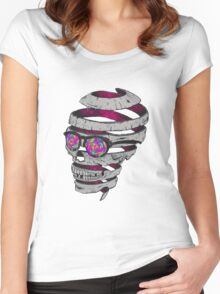 Trippy Skull Women's Fitted Scoop T-Shirt