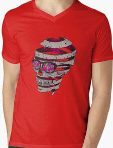 Trippy Skull Mens V-Neck T-Shirt