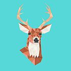 Geometric Deer by Crystal Potter