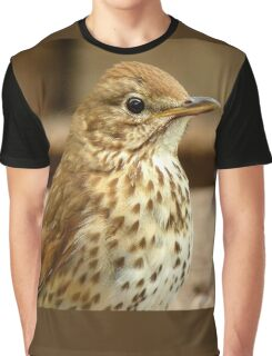 I'm As Beautiful As My Song Is..! - Song Thrush - NZ Graphic T-Shirt