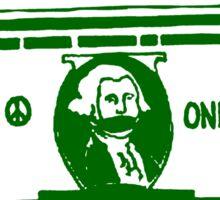 MONEY TALKS...BOYCOTT WAR PROFITEERS Sticker