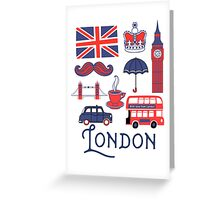London Icons Greeting Card