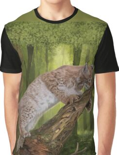 The Lynx and a Butterfly Graphic T-Shirt