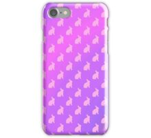Pink Purple Bunny Background Bunnies Pattern  iPhone Case/Skin