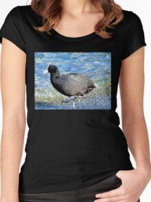 Not Quite An All Black! - NZ Coot Women's Fitted Scoop T-Shirt